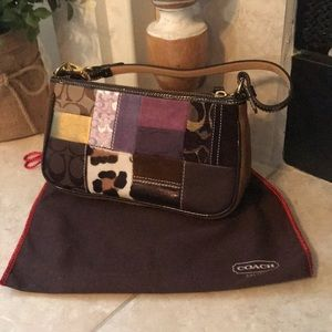 Coach Legacy Holiday Patchwork Handbag & Dustbag